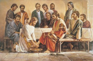 Jesus Washing the Man's Feet