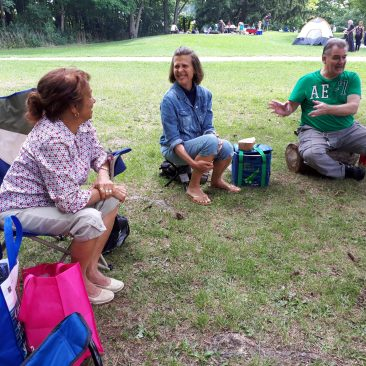 picnicing in the park