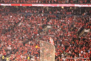 That is one happy crowd! The whole ACC was a sea of red and happiness!