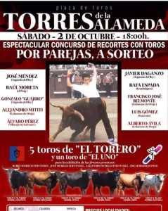 TOROS TORRES DE LA ALAMEDA 2 OCTUBRE 2021