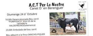 TOROS CANET D'EN BERENGUER 24 OCTUBRE 2021
