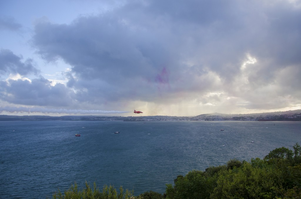 views of red arrows