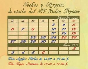 Calendario Belén Popular de Hoyo de Manzanares