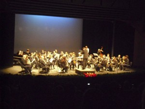 La Banda Sinfónica Municipal y Pequemúsicos en acción