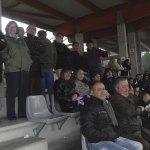 Tribuna del Torrelodones CF partido alevines primera