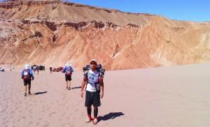 Carlos Llano, en el Atacama Crossing