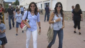 Las guapísimas hermanas Calderín, también votaron