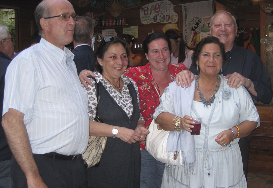 Soraya Saénz de Santamaría, Gádor Ongil y Javier Laorden en el Parque JH de Torrelodones