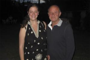 Francisco Aguadero con Celia, su hija mayor.