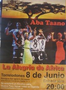Aba Taano, Música Para Salvar Vidas en Uganda, en Torrelodones