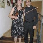 La violinista Frederieke Saeijs, junto al pianista Fernando Cruz