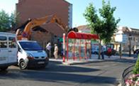 Obras en la Plaza del Caño de Torrelodones
