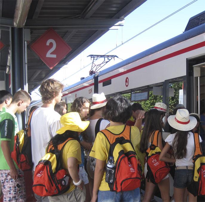 Vía 2 de la Estación Torrelodones