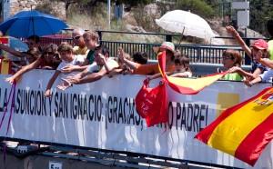 Saludando al Papa en Torrelodones- Foto gentileza de juanangelTC