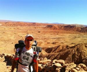 Carlos en su anterior reto, el Atacama Crossing