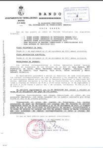 Bando Puesta al Cobro de Tributos de Torrelodones 1-9-2011