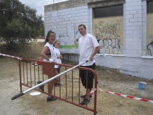 Pintando de blanco el muro