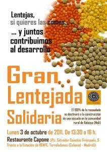 Lentejas Solidarias, restaurante Capone de Torrelodones
