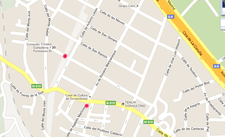 Rotura de tubería del Canal de Isabel II en el límite entre Galapagar y Torrelodones 13-09-2011