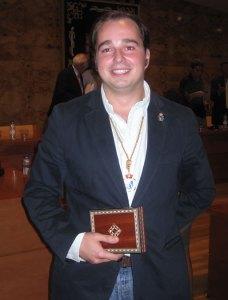Guzmán Ruiz-Tarazona Díaz, tras asumir como Concejal del Ayuntamiento de Torrelodones 11-10-2011
