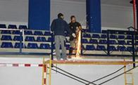 Obras barandilla Polideportivo (Fuente Foto: Ayto. de Torrelodones)