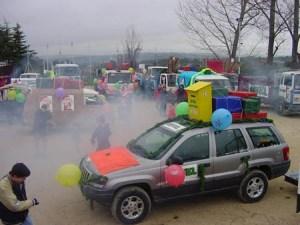 Preparando la salida Cabalgata 2003
