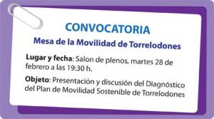 Convocatoria 2ª Mesa de Movilidad de Torrelodones