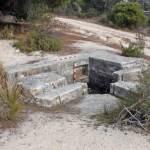 Uno de los nidos de ametralladoras que hay en el arroyo Trofas (Torrelodones)
