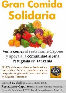 Gran Comida Solidaria, Torrelodones, AIPC Pandora, Restaurante Capone