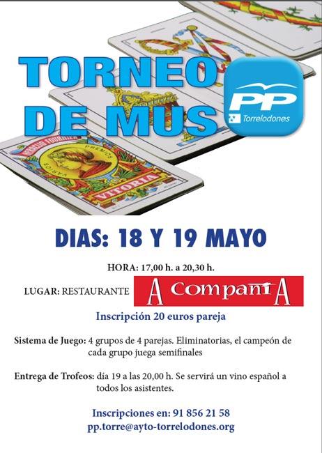 Torneo de Mus de PP de Torrelodones, 18 y 19 de mayo