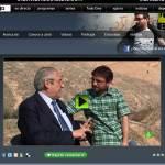 Milian Mestre es entrevistado antes de hablar con la Alcaldesa de Torrelodones