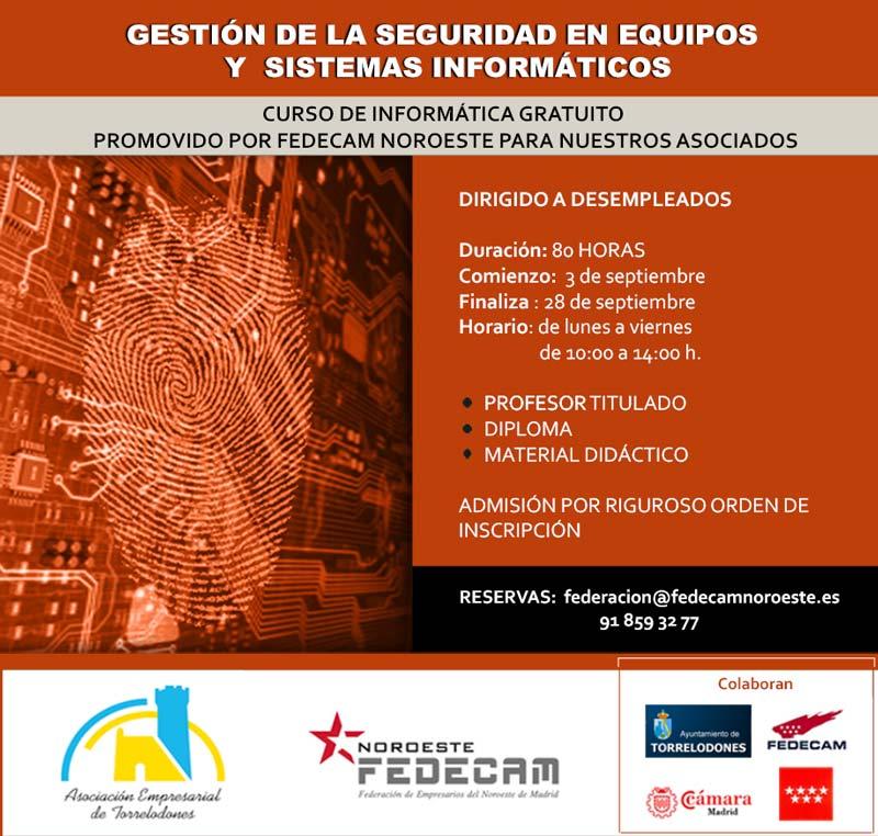 Curso gratuito de Seguridad Informática para desempleados en Torrelodones