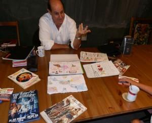 Ahumada enseña su novedoso método de Dibujo de Comics + Inglés, para enseñar a los niños