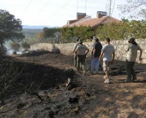 Incendio intencional en El Gasco 12-09-12
