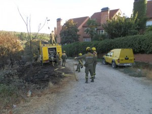Agentes de Incendios Forestales en Las Marías, 10-09-2012