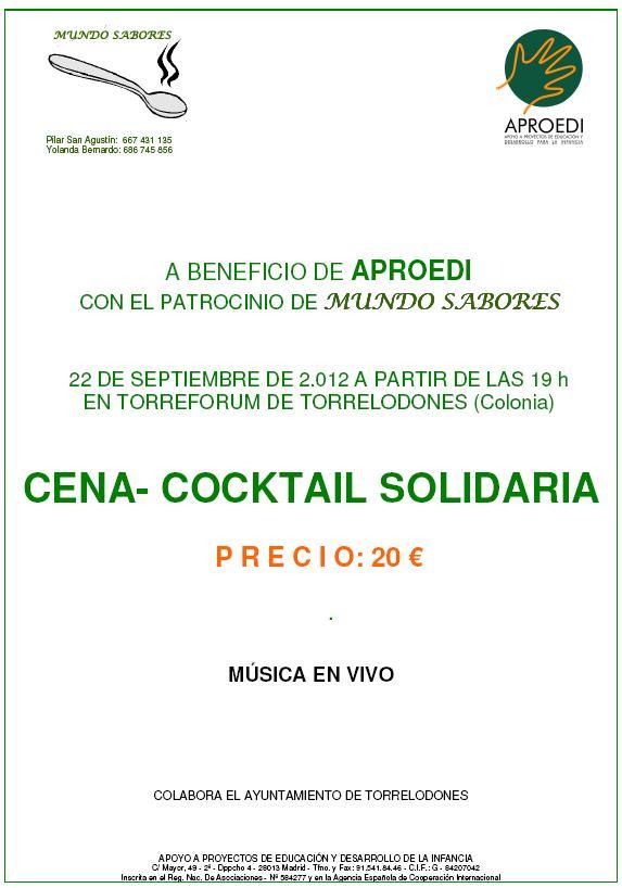 Cena-Cocktail a beneficio de APROEDI en Torrelodones
