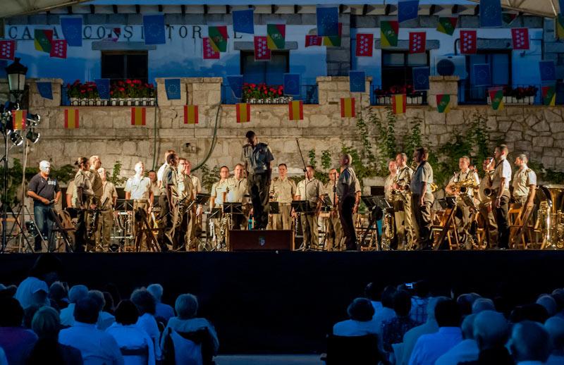Concierto Banda de la Unidad de Música de la Subdirección General del Ejército Centro (SUIGECEN) en Hoyo de Manzanares 2012