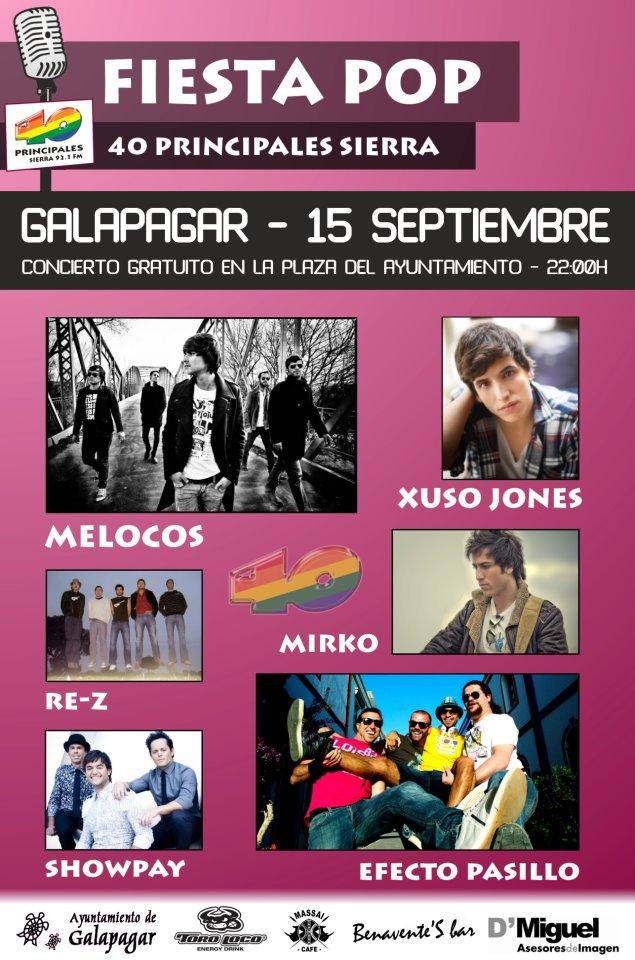 Concierto gratuito en Galapagar el 15-09-2012