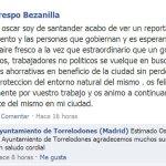 Elogio recibido por el Ayuntamiento a raíz del reportaje en TVE
