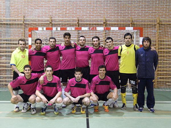 El equipo de Torrelodones FS que derrotó al Valdeiglesias FS por 1-3 el 3-11-2012 (Foto: Torrelodonesfs.es)