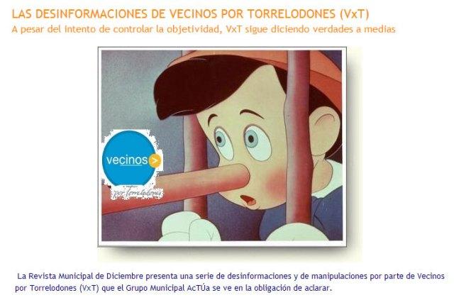 Imagen y títulos nota de acTÚa publicada en su sitio web