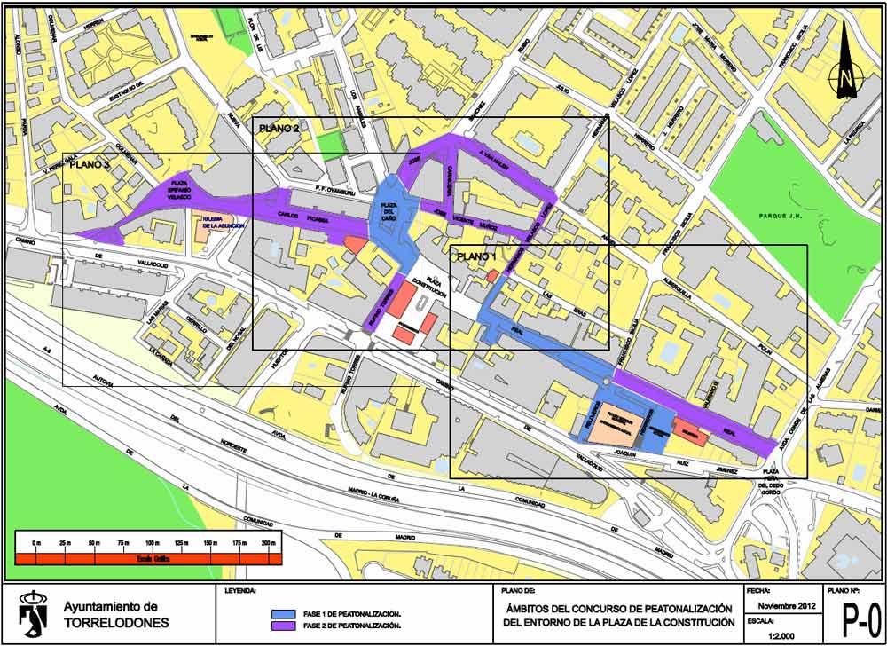 Fases Peatonalización Centro de Torrelodones