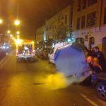 Contenedores incendiados en Torrelodones (Foto: Protección Civil de Torrelodones)