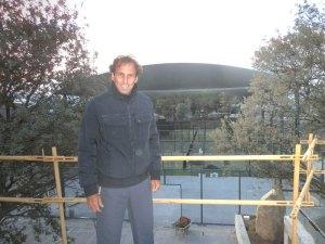 Hernán Auguste en la futura Terraza del Club