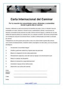 Torrelodones firma la Carta Internacional del Caminar (Walk21)