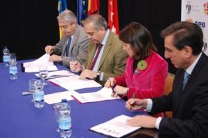 De izq. a derecha: Juan Martín Caño, José Luis Sáez, Elena Biurrun y David García