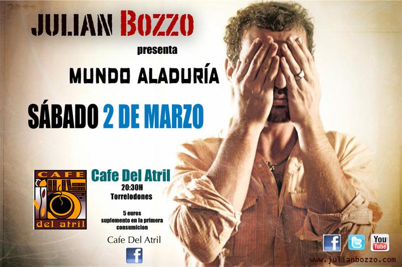 Jan Bozzo en el Café del Atril de Torrelodones
