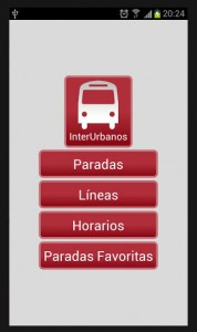 App InterUrbanos de Google para Android