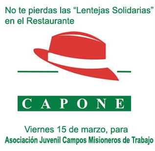 Lentejas Solidarias del 15 de marzo para Campos Misioneros de Trabajo