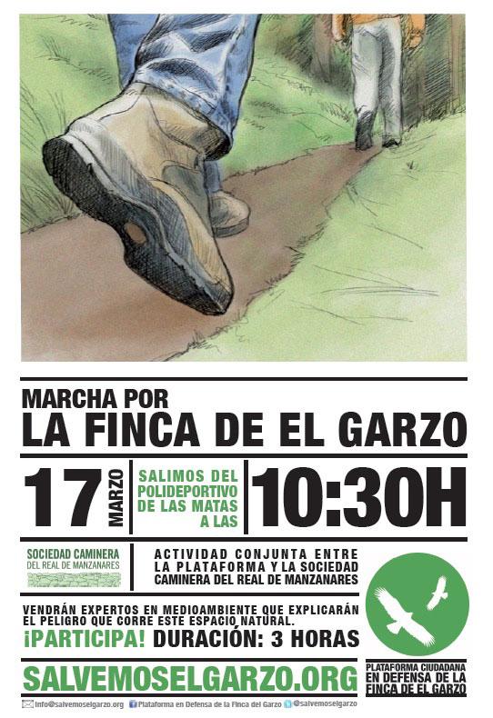 Convocatoria Marcha Finca El Garzo domingo 17 de marzo 2013